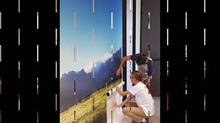 custom wallpaper - how to hang your custom printed wallpaper from custom wall designs