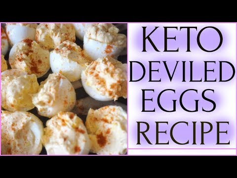 Keto Recipes | Cream Cheese Deviled Eggs | Low Carbs, Creamy and Healthy,Perfect For Easter Eggs