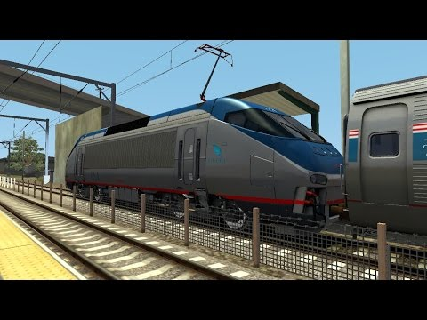 TS2015 HD: Amtrak Northeast Regional and Acela Express Trains at Kingston, Rhode Island (10/26/14)