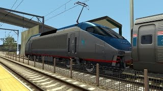 TS2015 HD: Amtrak Northeast Regional and Acela Express Trains at Kingston, Rhode Island (10/26/14)