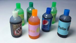 DIY Miniature Soda Bottles : Doll Food DIY