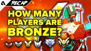 How many players are actually BRONZE? Overwatch Competitive Mode Rank Distribution   Akshon Recap