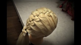 Французская Коса (с вплетением) French Braid Hairstyle Tutorial Peinado