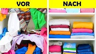20 platzsparende Ideen zum Kleiderfalten