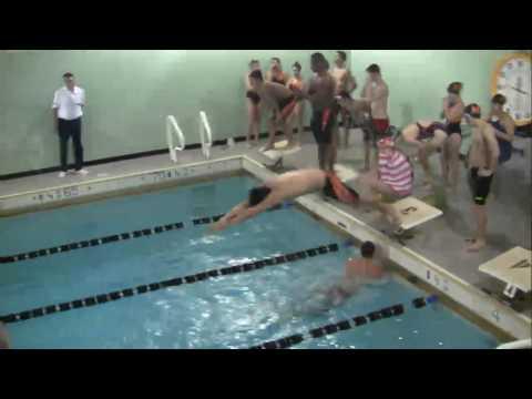 MHS Boys and Girls Swimming vs Hoboken 2/13/17