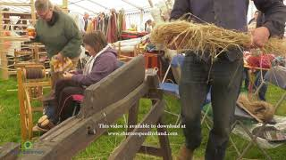 Linen flax beating at Shanes Castle May Day Steam Rally Estate Antrim Northern Ireland 1 4k