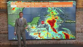 National Hurricane Center watching possible development in the Caribbean