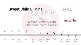 Download Mp3 Guns N Roses Sweet Child O Mine Drum Score
