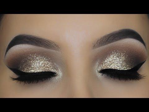 Classic Glitter Eye Makeup tutorial | Timeless Eyelook thumbnail