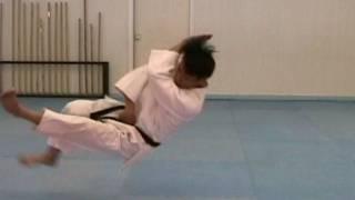 How to break a fall in sideways in JUDO (taekwonwoo)