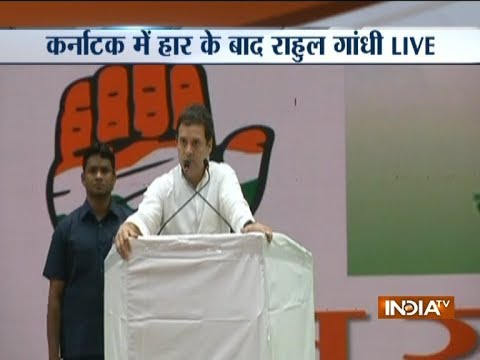 Rahul Gandhi criticises Yeddyurappa's swearing-in, says 'RSS making way into all institutions'