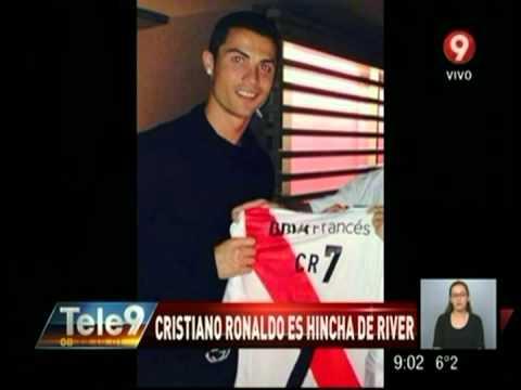 Cristiano Ronaldo es hincha de River - YouTube