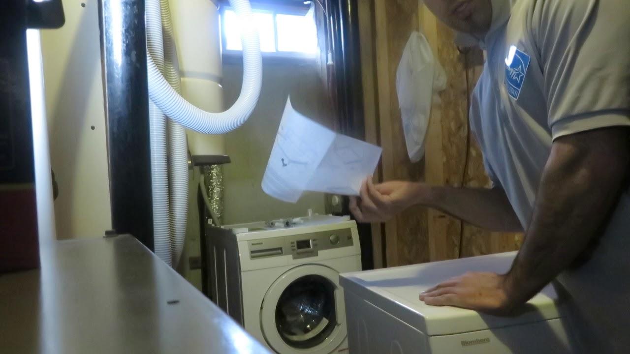 Blomberg Washer Dryer Stack Unit Installation