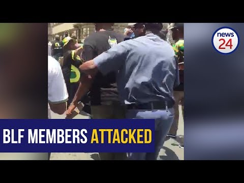ANC supporters attack BLF members with bricks outside Luthuli House