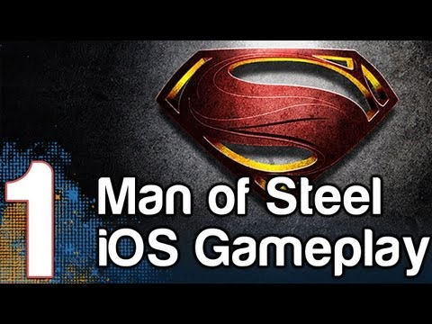Man Of Steel HD Gameplay Part 1 IOS IPad IPhone | WikiGameGuides