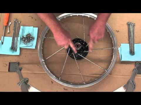 Pt.1 How To Lace And True A Motorcycle Wheel At D-Ray's Shop
