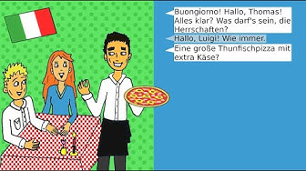 Deutsche Dialoge: Essen bestellen beim Imbiss / Restaurant - German dialogues: ordering food