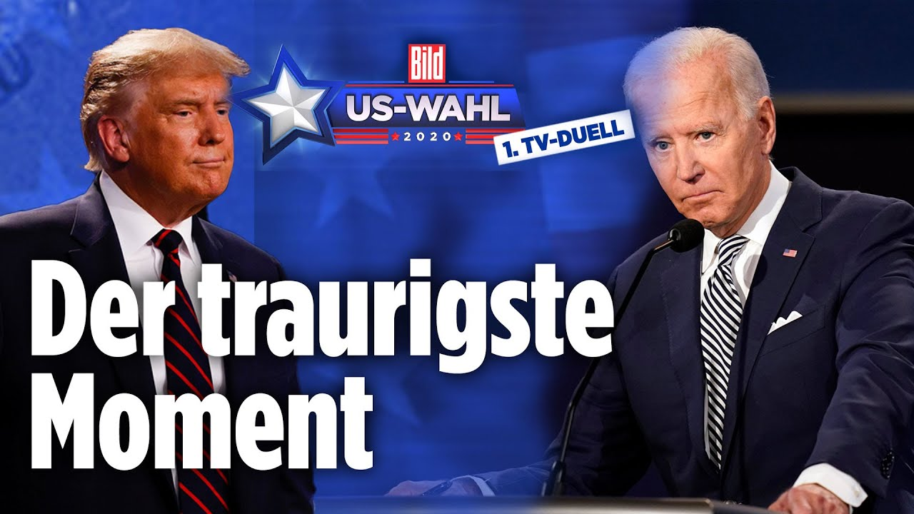 TV-Duell Trump vs. Biden: Biden richtet emotionalen Corona-Appell an die Zuschauer |US-Wahl 2020