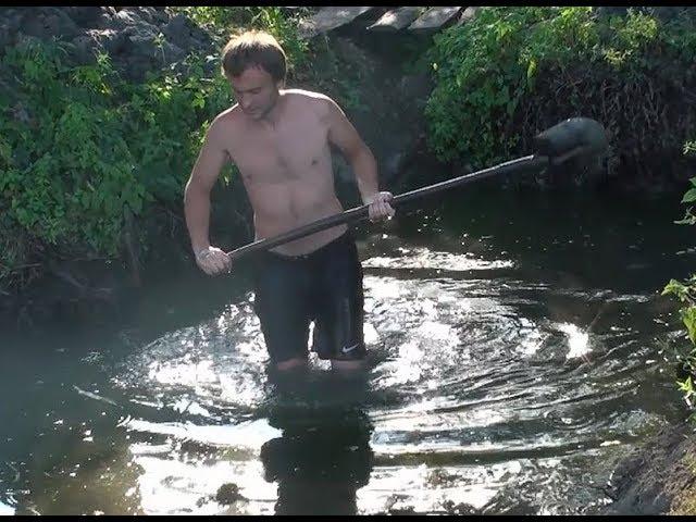Подготовка к спасению рыбы от падения листвы в пруд.  История о болоте