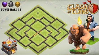 Town Hall 11 Hybrid Base ANTI GIANT - Clash of Clans (TH11)
