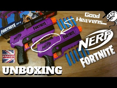 Nerf Fortnite Epic Dual Pistols Unboxing, Review. Hasbro Thought Of That.
