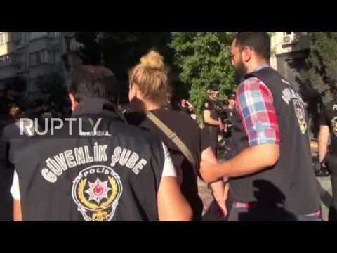 Turkey: LGBTQ activists arrested as riot police disrupt Pride parade in Istanbul