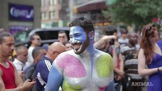 Watch Naked People Get Painted in NYC: The Video