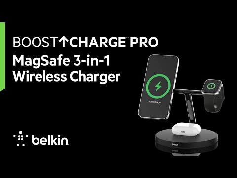BOOSTCHARGE PRO MagSafe 3-in-1 Wireless Charger
