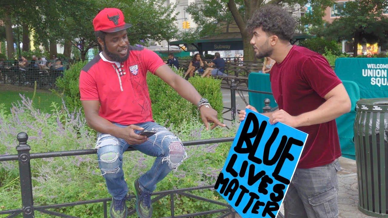 BLACK Lives Matter VS COPS Lives Matter Experiment
