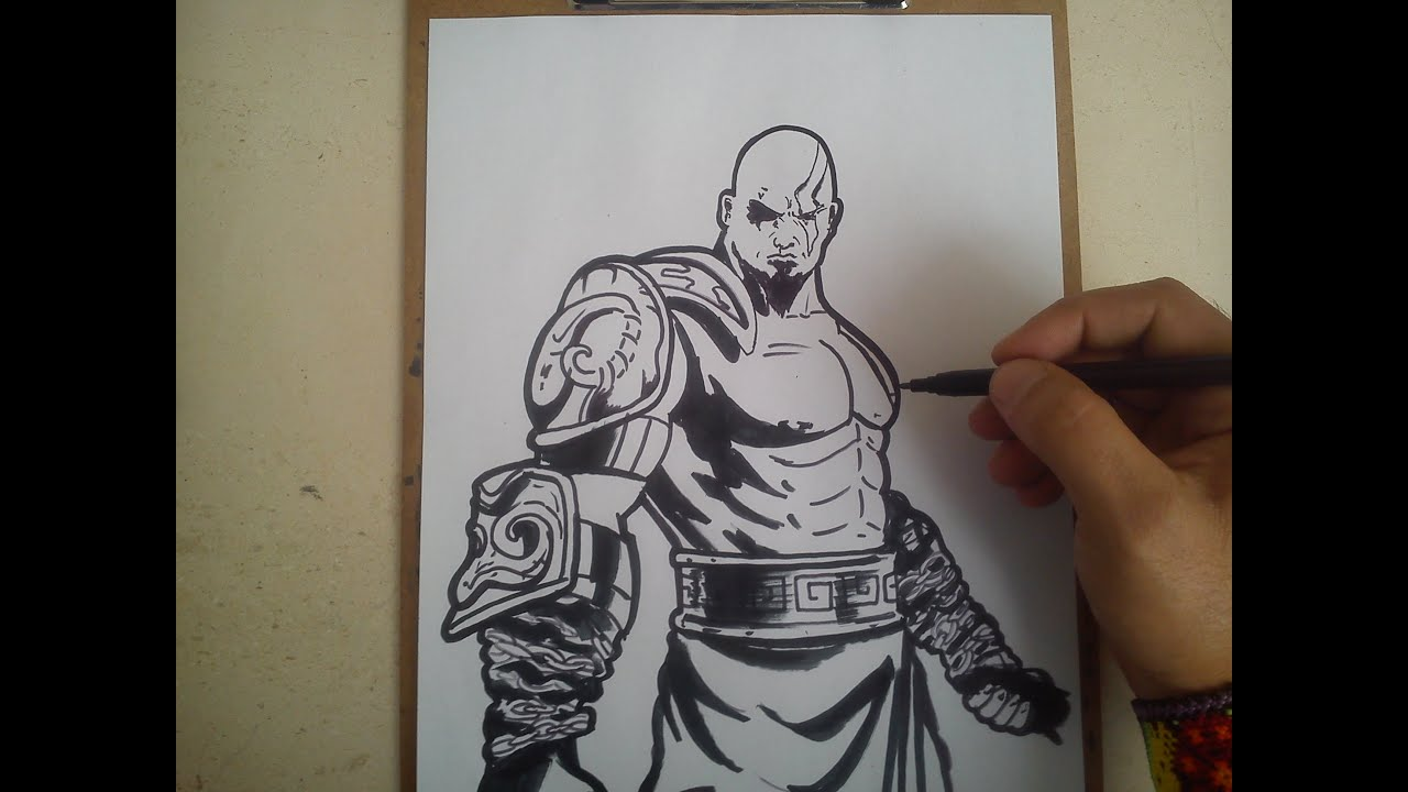 Como Dibujar A Kratos De God Of War How To Draw A Kratos God Of War