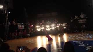 Unvsti Baby Battle 2013 B-Girl Terra vs B-Boy K