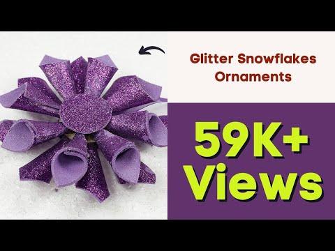 DIY Christmas Decoration - Glitter Snowflakes Ornaments for DIY Home Decor