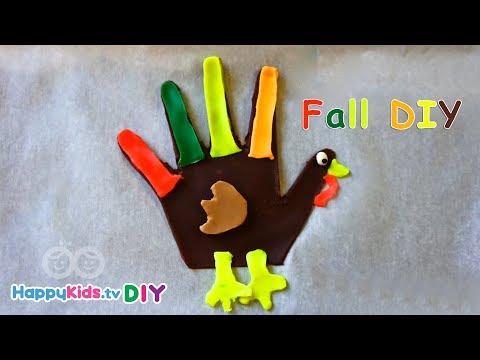 DIY 3D Turkey | PlayDough Crafts | Kid's Crafts And Activities | Happykids DIY