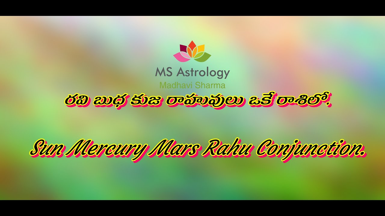 Sun Mercury Conjunction In Vedic Astrology