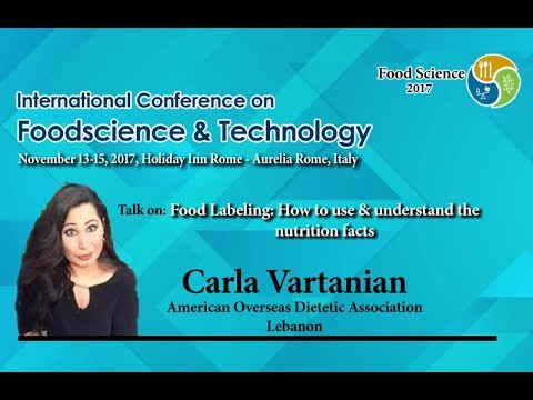 Carla Vartanian | Food Science & Technology Conference 2017 ...