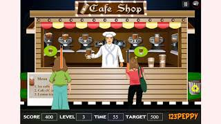 How to play Coffee Shop Game game | Free online games | MantiGames.com