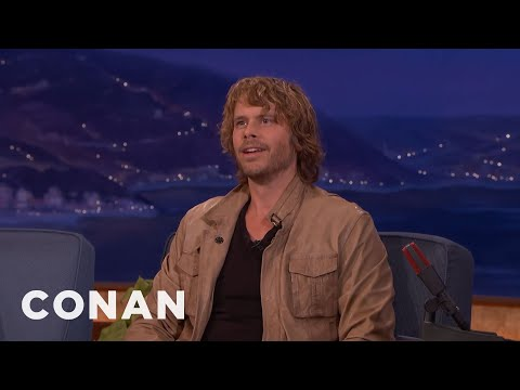 Eric Christian Olsen Taught His Son To Pee In The Bushes  - CONAN on TBS