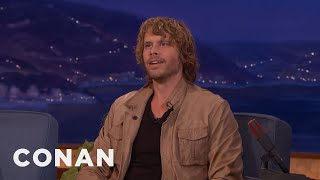 Eric Christian Olsen Taught His Son To Pee In The Bushes  - CONAN on TBS.mp3