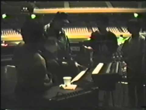 Deep Purple's Jon Lord at  soundcheck at the Tokyo Budokan 1991