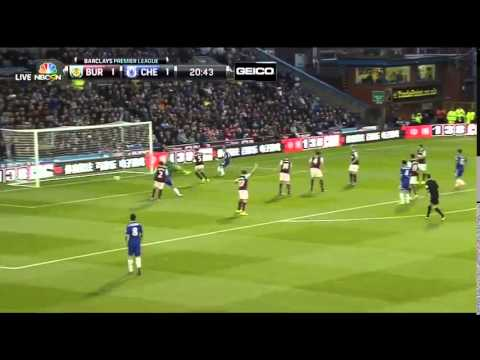 AMAZING CHELSEA GOAL - Andre Schurrle goal vs Burnley & Fabregas assist (HD) (ENGLISH COMMENTARY)