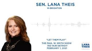 Sen. Theis talks #LetThemPlay on the Paul W. Smith Show