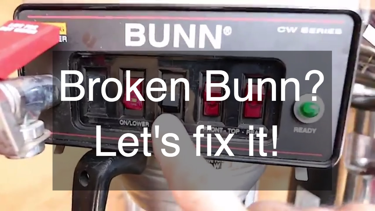 Bunn Coffee Maker Fix : Repairing a BUNN CWTF15 Coffee Maker - Leaking Bunn Coffee Maker - YouTube