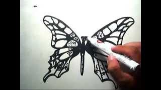 How to Draw Butterfly (Cara Menggambar Kupu-kupu)