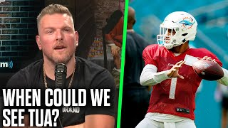 Pat McAfee & Kyle Van Noy Talk Tua Tagovailoa. When Could We See Him Play?