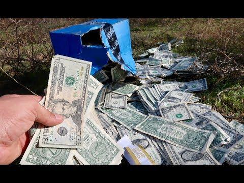 FOUND BOX OF MONEY!!