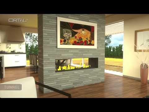 Ortal Modern Linear Gas Fireplaces