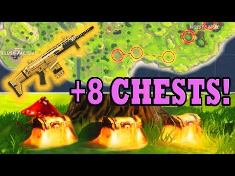 BEST Chest/Loot Spots (8+ CHESTS) Fortnite Battle Royale! Spawn Locations