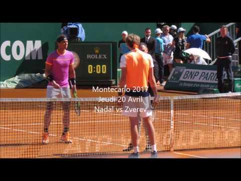 Nadal vs Zverev Montecarlo 2017