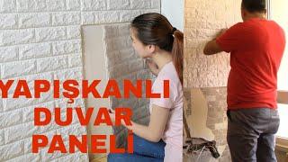 Yapışkanlı duvar paneli ile duvar kaplamak....pratik ve kolay