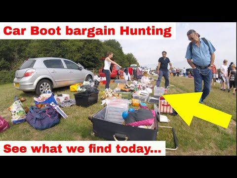 Car Boot Sale Bargain Hunting - GoPro Footage - We Fill The Mini...